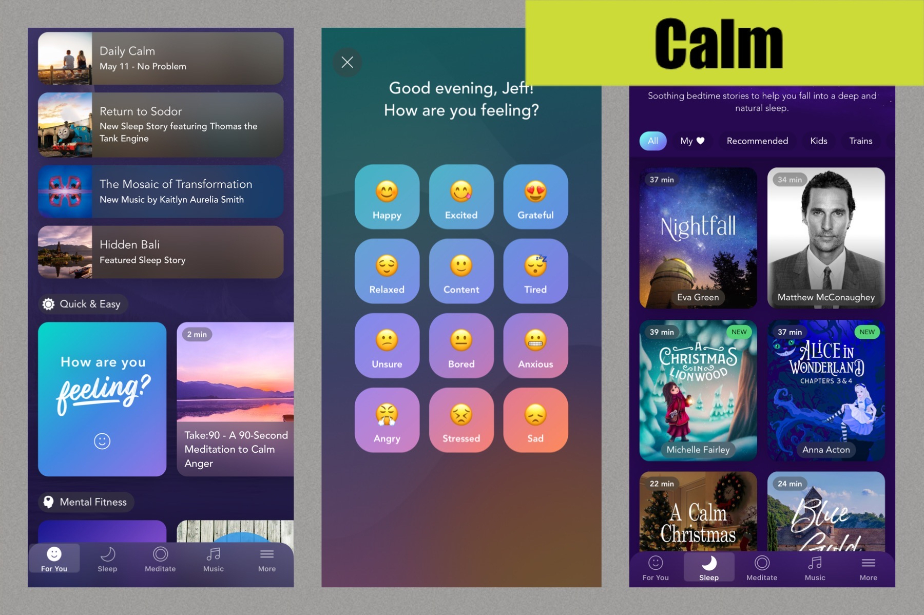 Calm App screenshots